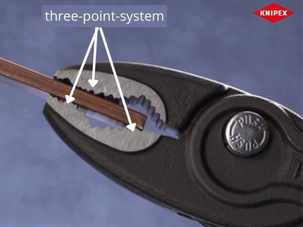 three point gripping system