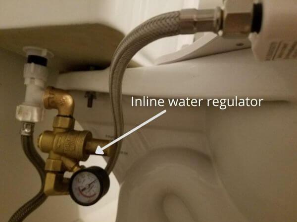 inline water pressure regulator