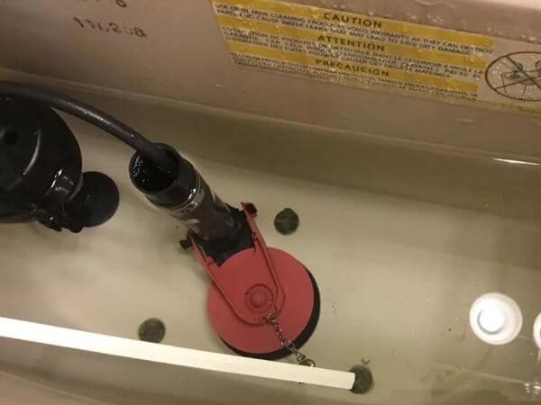 replacing a toilet flapper