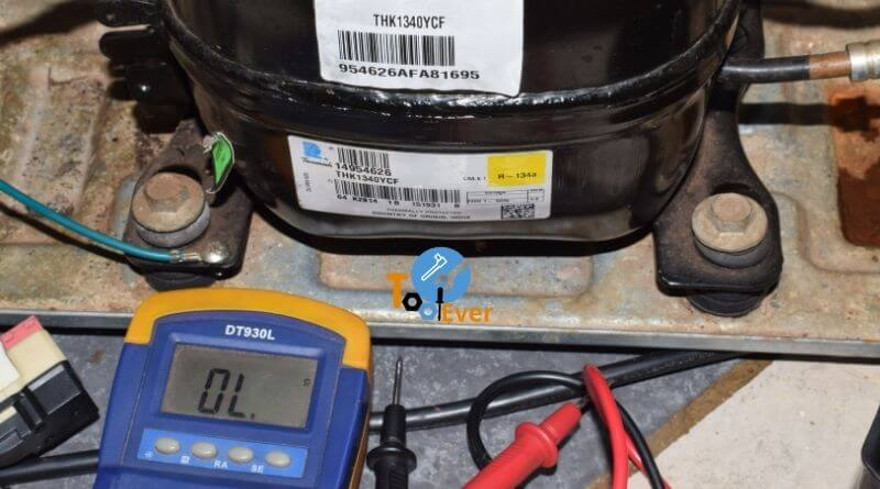 testing the compressor of a refrigerator with DMM