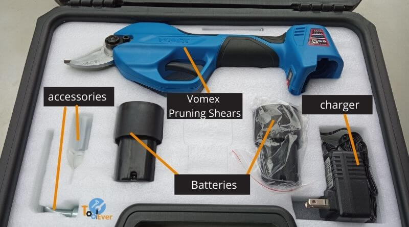 vomex power electric pruning shears kit